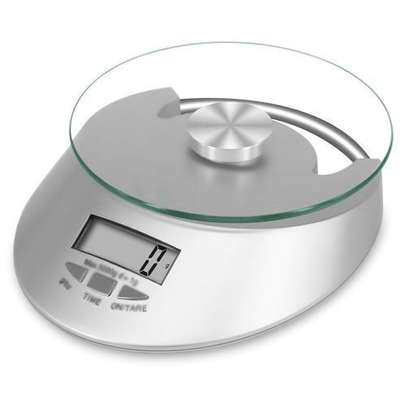 Digital Electric Scale- Silver - ONE SIZE image 1