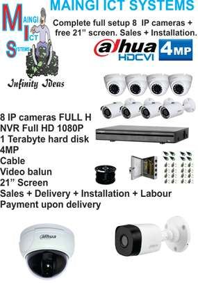 8 CCTV IP CAMERAS 4MP  complete sales plus installation
