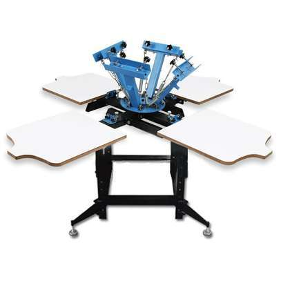 4-COLOR 4-STATION screen printing machine image 1
