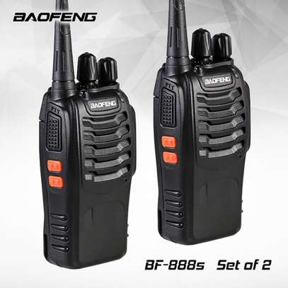 Long Range Walkie Talkies FRS Two Way Radios with Earpiece 2 Pack UHF Handheld Reachargeble BF-888s Interphone for Adults or Kids Hiking Biking Camping Li-ion Battery and Charger Included image 2