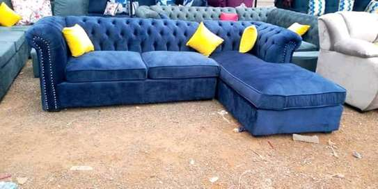 Blue L Chesterfield image 1