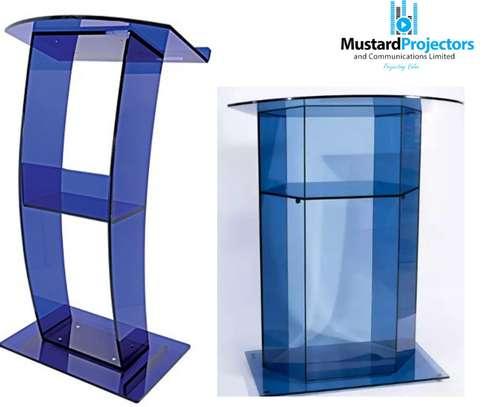 hire a glass podium image 1