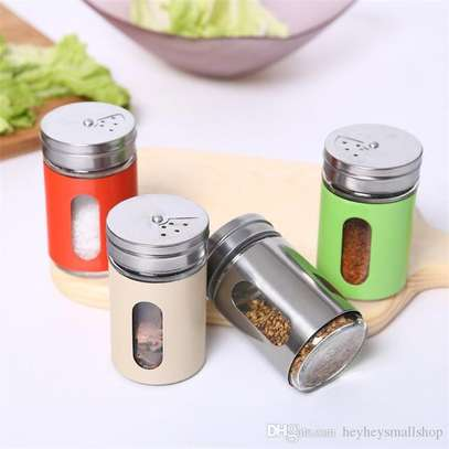 Glass salt shakers image 1