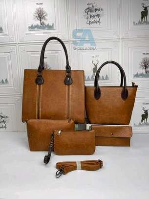 Fancy 5 in 1 Leather Handbags image 6