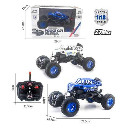 Blue rock crawler toy car image 3