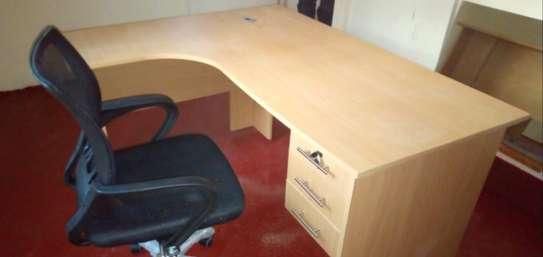 L-shaped Office Desk Plus a Chair