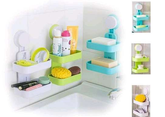 Double Layer Soap Box with Suction Cup Holder image 2