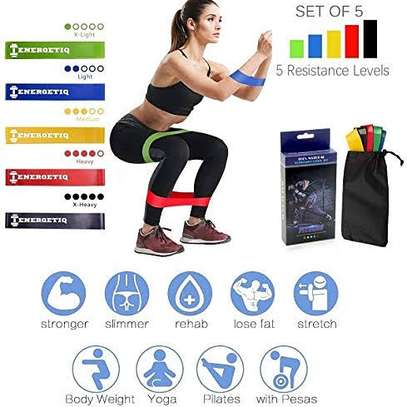 5 in 1 Yoga Stretch Out Strap Resistance Band image 1