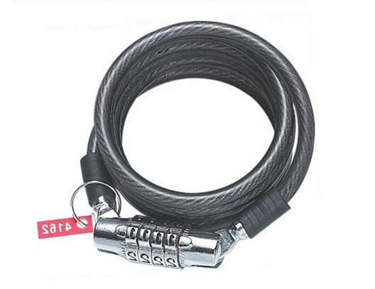 Stainless steel bike/bicycle security cable combination lock