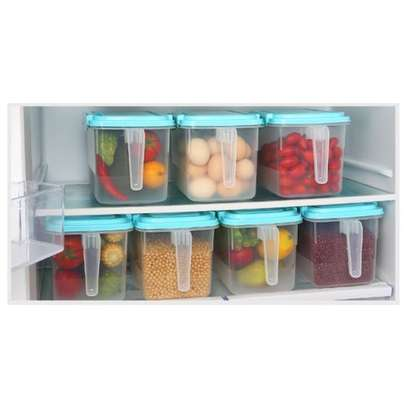 1pc Airtight Fridge Food Storage Organizers Rice & Cereal Container With Lid and Handle image 4