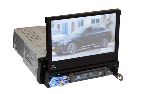 """Swift Car Stereo Head Unit with 7"""" Motorized Retractable Touchscreen DVD USB AUX Bluetooth image 3"""