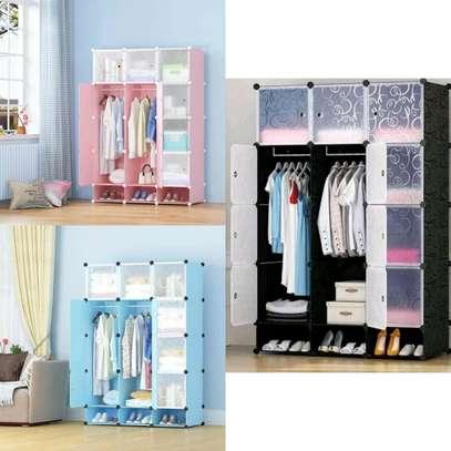 3 Column Portable Plastic Wardrobe image 1