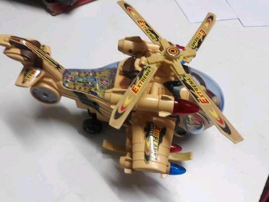 Kids motorised moving helicopter image 1