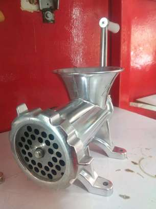 Manual Meat mincer J22 22inch silver image 1