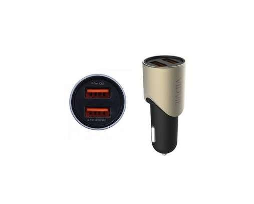 Vidvie Fast Car Charger CC507, 3.1A - 2 USB Port With Usb Cable image 1