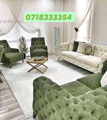Stylish All Tufted Classic 5 Seater Chesterfield Sofa image 2