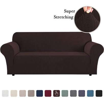 Stretchable Sofa Seat Cover 3 Seater image 1