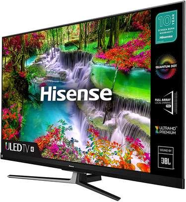 Hisense 50'' 4K ULTRA HD QLED ANDROID TV, VOICE CONTROL, BLUETOOTH, NETFLIX U7-Black image 1