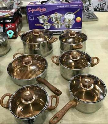 12pcs Signature stainless steel sufuria/cookware set image 3