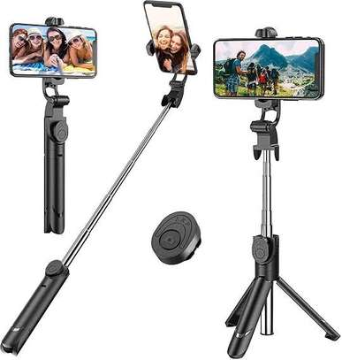 3 in 1 Wireless Bluetooth Selfie Stick for iphone/Android/Huawei Foldable Handheld Monopod Shutter Remote Extendable Mini Tripod image 2