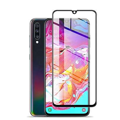 5D HD Clear Tempered Glass Front Screen Protector for Samsung A50 image 1