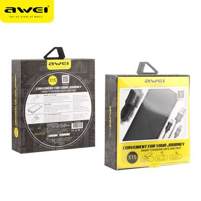 Awei X15 3 In 1, 10000mah Power Bank, Data Cable And Car Charger image 6