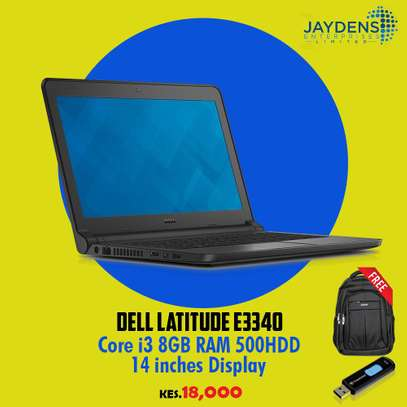 DELL LATITUDE E3340 CORE i3 8GB/500GB HDD With free laptop bag and a flashdisk