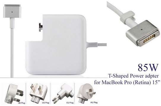 """85W Magsafe 2 T-tip Power Adapter Charger for Apple MacBook Pro 15"""" 17""""Retina Display A1395 A1425 A1398 A1424 laptop"""