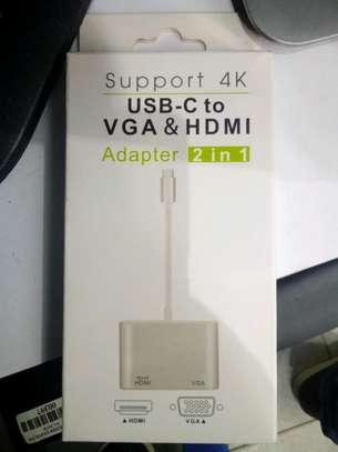 USB-C to VGA& HDMI adapter image 1