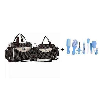 4 In 1 Diaper Bag With Changing Mat Get A Free Baby Kit image 1