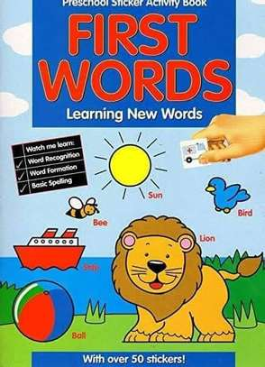 Paper Craft First Words - Preschool Sticker Activity Book - with Over 50 Stickers image 1