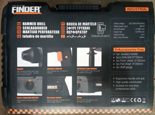 Finder 800W Industrial Hammer Drill with Accessories image 2