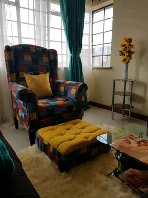 Wingchair and Ottoman image 1