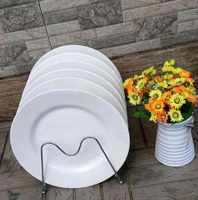 *A set of 6 opal white plates image 2