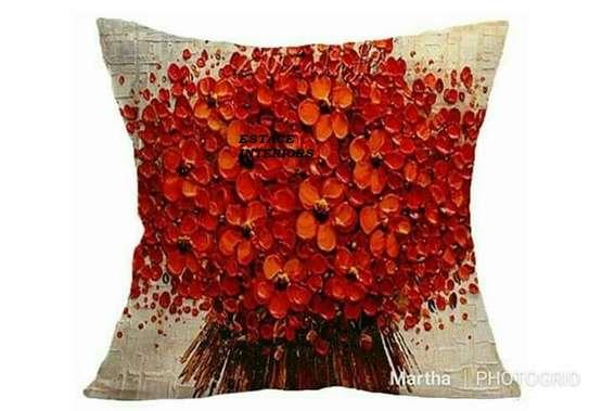 Decorative Floral Print Throw Pillows image 3