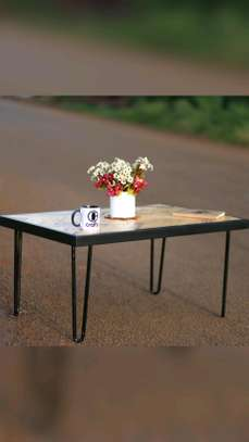 Hairpin legs Pallets Top Coffee Table image 1