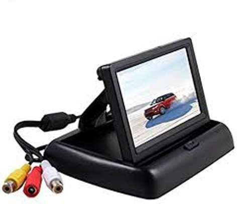 4.3 Inch Foldable LCD Car Monitor System for Car Rear View Parking Compatible for Car DVD/VCD/Camera/Video Equipment. image 1