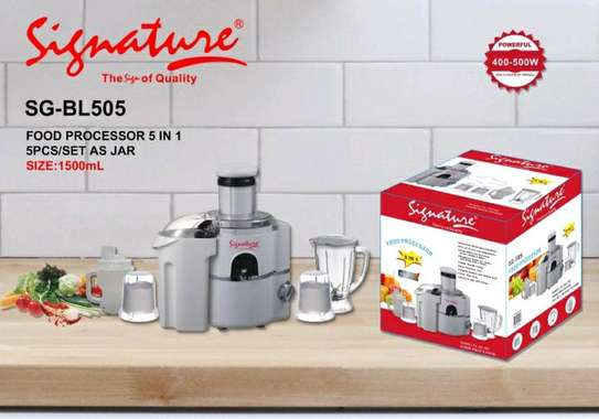 5 in 1 signature food processor/blender. image 1