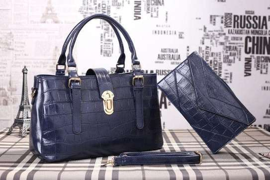 2 Piece Leather Handbag Sets. image 7