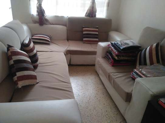 7 Seater sofa set with leg rest