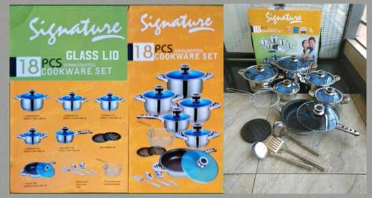 Signature stainless steel pots