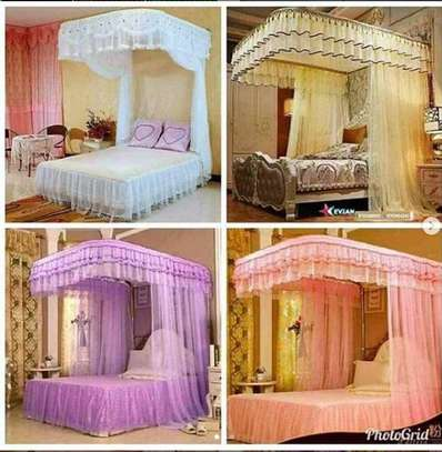 2 stand mosquito net with Sliding rail image 1
