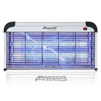 40W Electronic Bug Zapper - Insects Killer - Fly Trap - Insect Killer Zapper - Mosquito Trap - Fly Killer with UV Light for Indoor Outdoor - Free Standing or Wall Hanging image 1