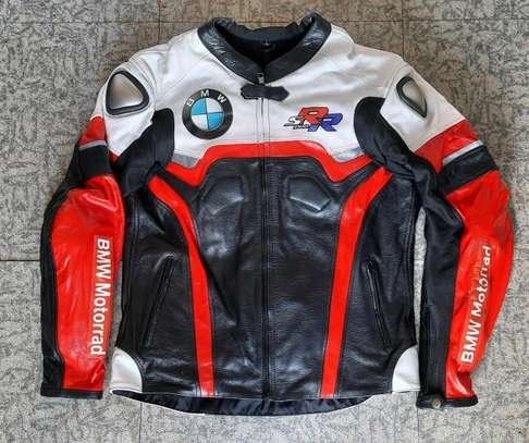 BMW Cowhide Leather Motorcycle Jackets image 1