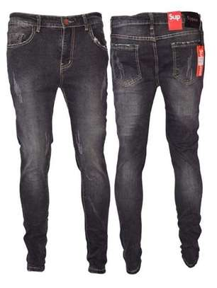 Grey Patched Jeans image 1