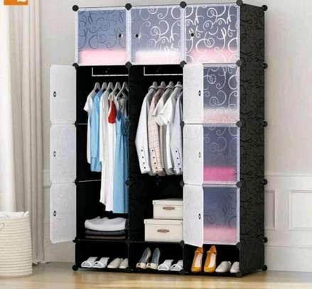 3 column plastic wardrobe image 3