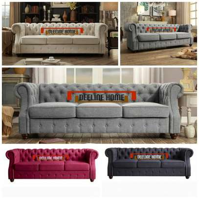 3 Seater Chesterfield Sofa image 1
