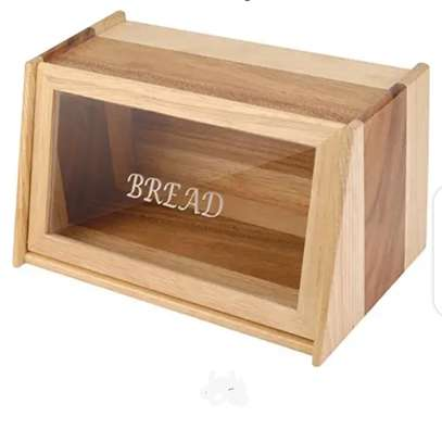 Bread Box*Wooden with Glass Lid*KSh 2600 image 1