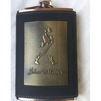 Stainless Steel Leather Top Hip Alcohol Whisky Flask