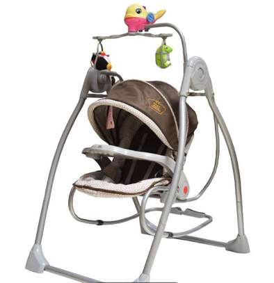Battery operated baby swing & rocker image 2